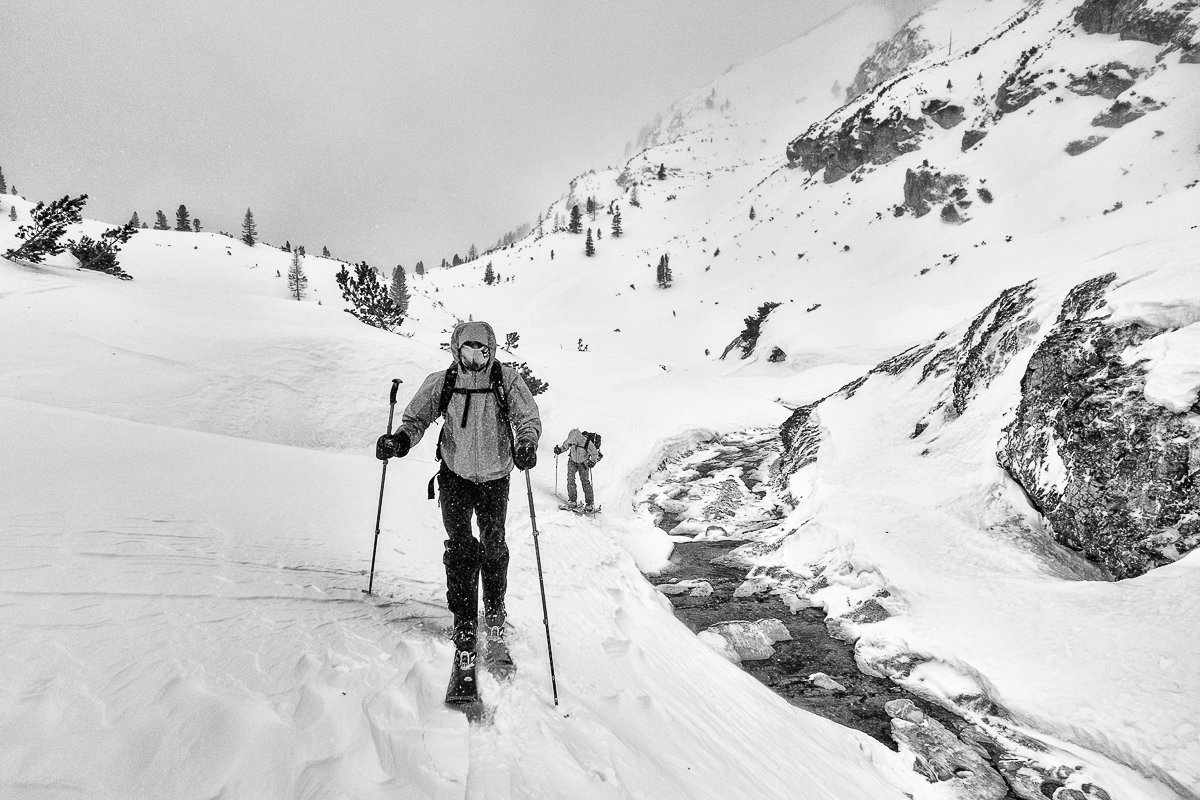 skitouring in Fannes-Sennes-Braies national park