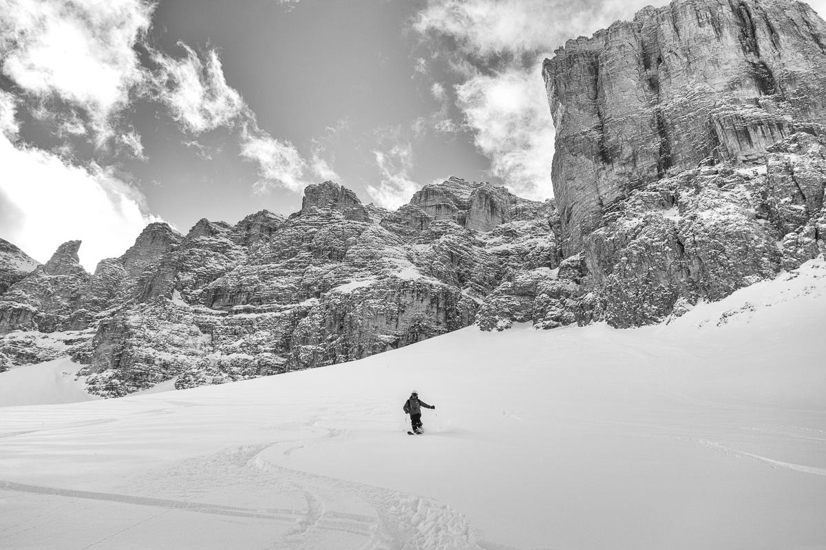 Val Mezdi, winter, Dolomites