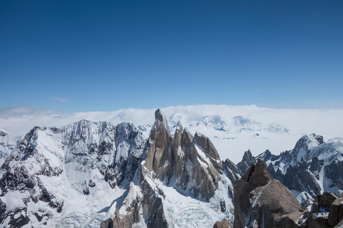 Cerro Torre, Torre Egger, Punta Herron, Aguja Standhardt