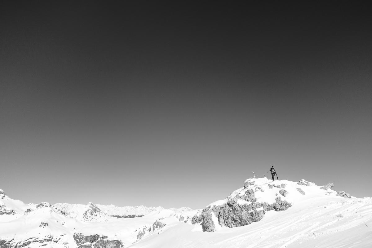 Sas Ciampac, winter, Dolomites