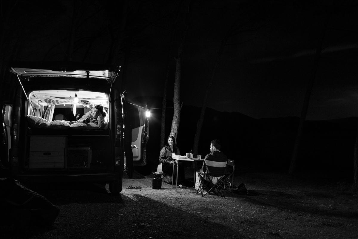 Van life. Sardinia, Masua.
