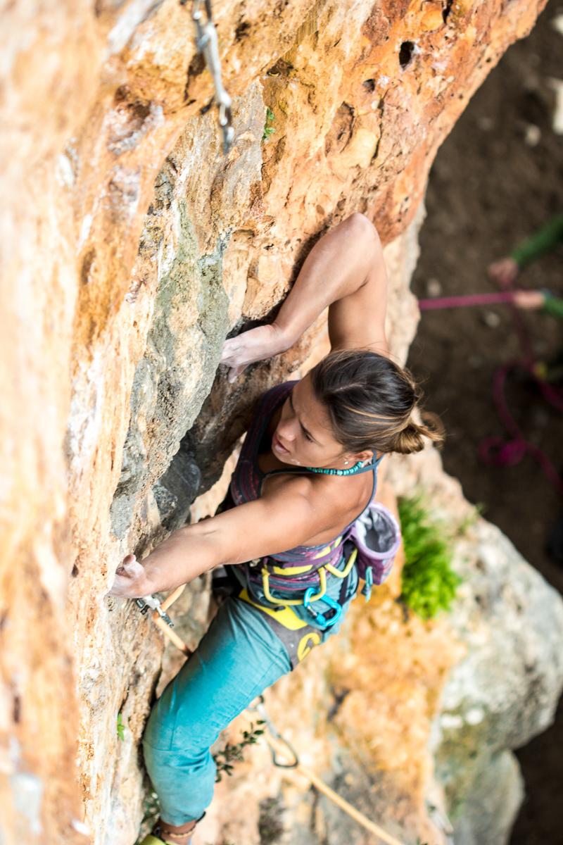 Climbing, Sardinia, Quirra.