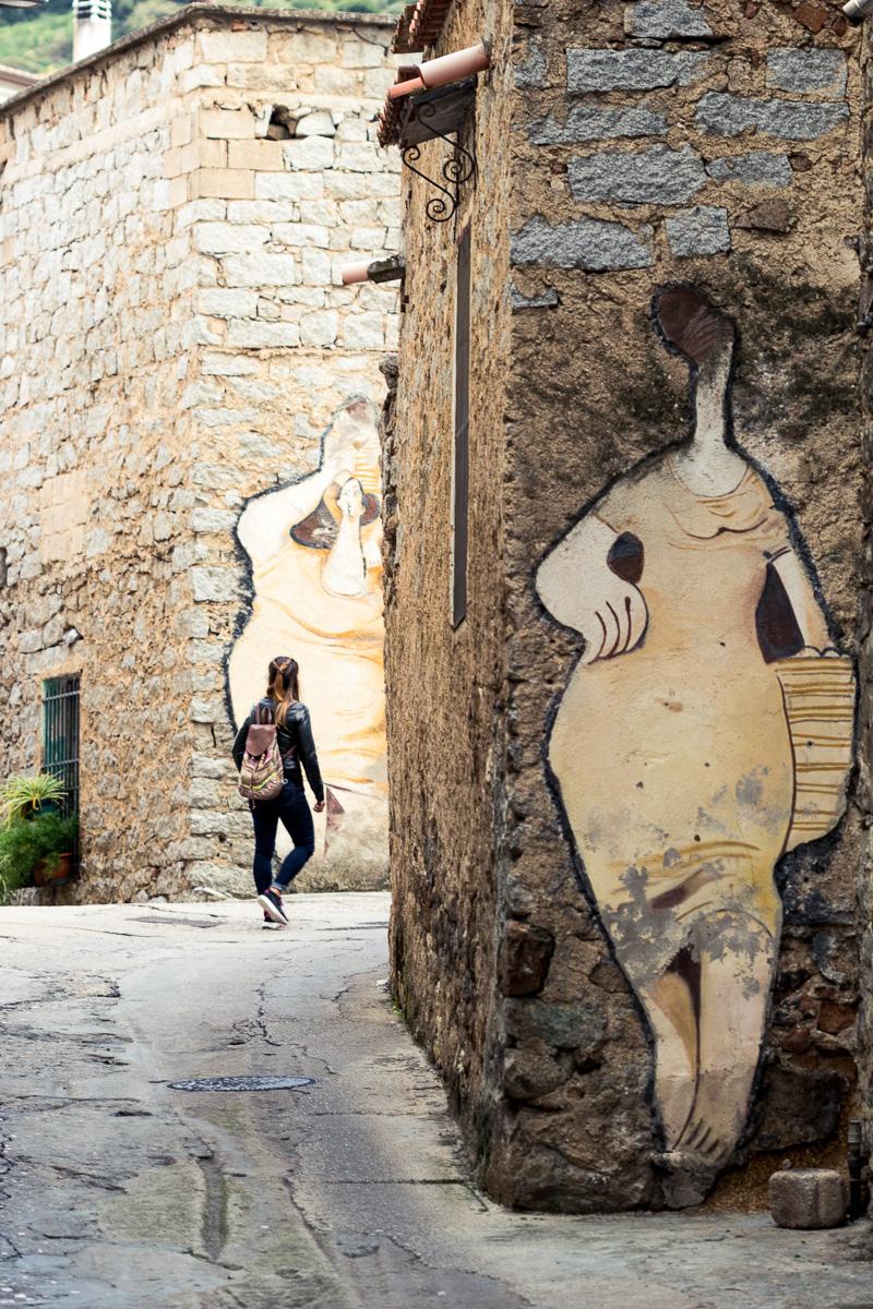 Sardinia, Orgosolo murales.